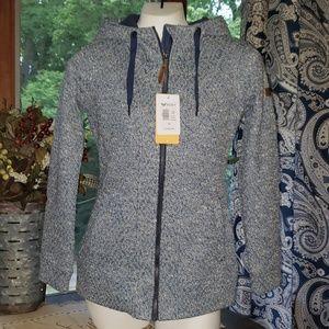 NWT ROXY Doe Technical Zip-Up Hoodie Jacket XS